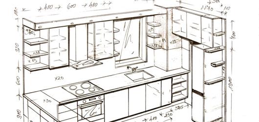 szkic kuchni